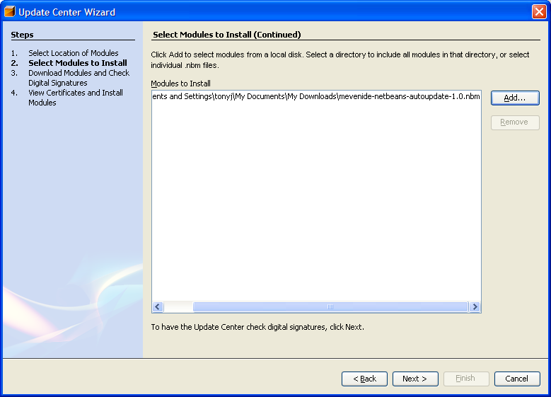 Installing Netbeans with Maven Support - Linear Collider